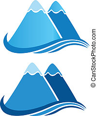 berge, logo, vektor
