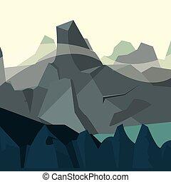 berge, natürlich, felsig, landschaftsbild, himmelsgewölbe