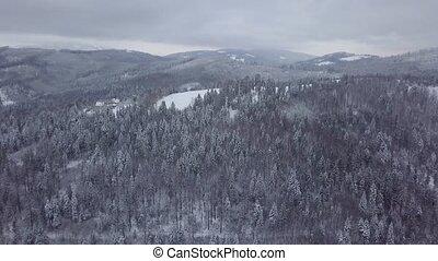 berge, panorama, landschaftsbild, verschneiter