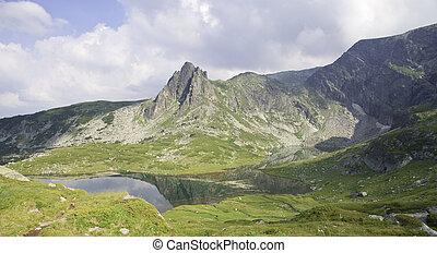 berge, und, berg, seen, in, bulgarien