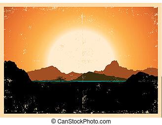 bergen, grunge, landscape, poster