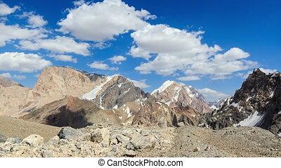 bergen, in, clouds., pamir, tajikistan., timelapse., 4k