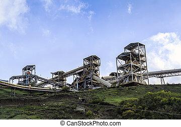 bergen, infrastructuur, mijn, steenkool