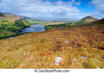 bergen, landscape, in, ierland