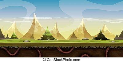 bergen, landscape, seamless, ga
