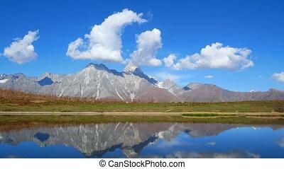 bergen, meer, timelapse