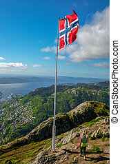 Bergen, Norway - Bergen is a city and municipality in...