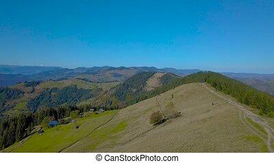bergen, op, vliegen, carpathian