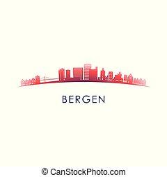 Bergen skyline silhouette.