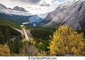 bergen, snelweg, canadees