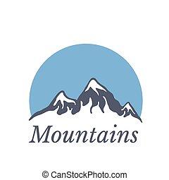 bergen, vector, logo, illustratie