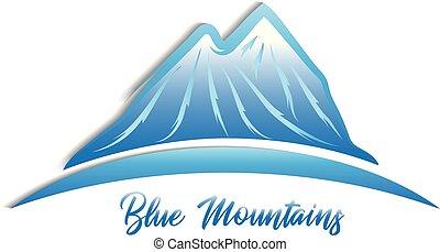bergen, vector, ontwerp, logo