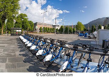 Bergen with bikes for rent in Norway