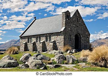 berger, bon, église