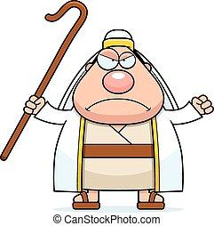 berger, fâché, dessin animé