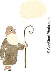 berger, retro, dessin animé