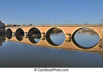 Bergerac, bridge on Dordogne river