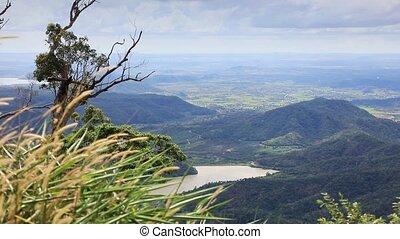bergig, landschaftsbild, in, vietnam