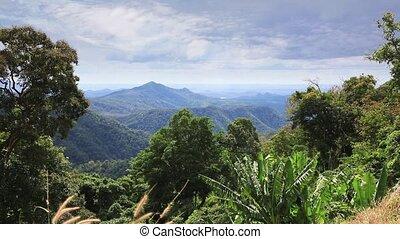 bergig, landschaftsbild, von, östlich, vietnam