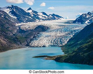 bergketen, en, gletsjer