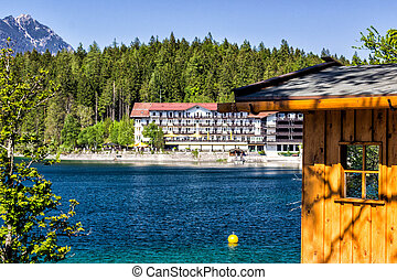 bergsee, in, sommer