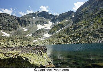 bergsee, landschaftsbild