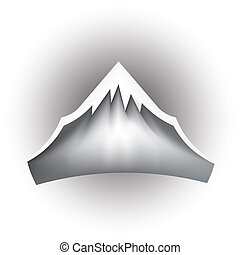 bergstopp, fjäll, vektor