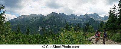 bergwandern, spur