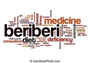 beriberi, λέξη , σύνεφο