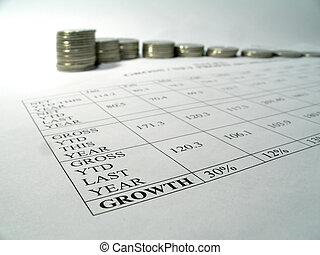 bericht, geld, wachstum