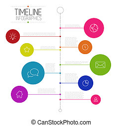 bericht, timeline, infographic, schablone