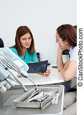 bericht, zahnarzt, patient, röntgenaufnahme