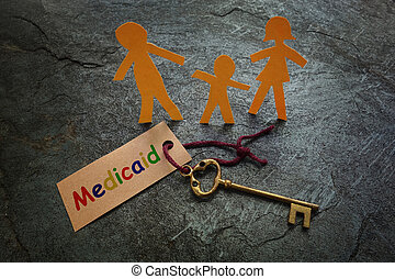 berichterstattung, papier, medicaid, familie