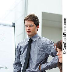 berichtgeving, verkoopcijfer, zakenman