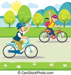 berijdende fietsen, geitjes