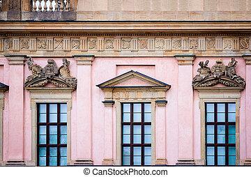 berlín, estado, staatsoper, ópera, detalle, fachada, casa