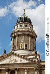 berlim, quadrado, gendarmenmarkt, igreja