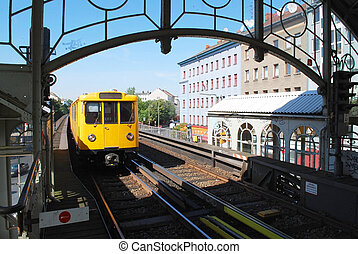berlim, trem, metrô