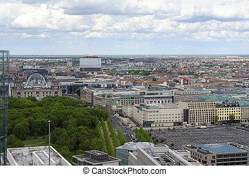 berlin, aérien, vue