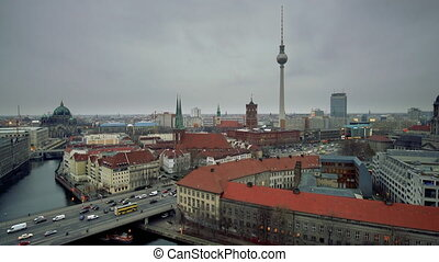 Berlin aerial view, Germany - Panoramic aerial view of ...
