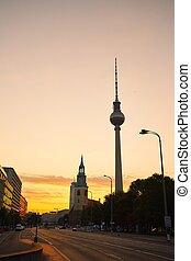 berlin, an, der, sonnenaufgang
