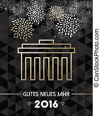 berlin, année, allemagne, 2016, nouveau