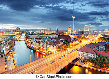 Berlin at night, Germany