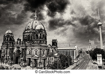 Berlin Cathedral and Alexander Platz, Aerial view in Berlin