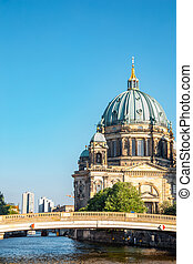 Berlin Cathedral (Berliner Dom) and Spree River in Germany
