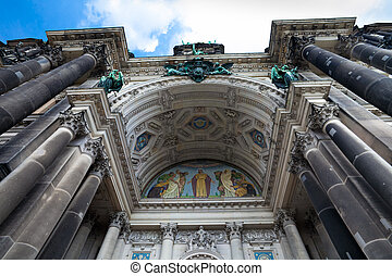 Berlin Cathedral (Berliner Dom) main entrance arch, Berlin, Germany