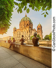 Berlin Cathedral, Berliner Dom - Morning view of Berlin...