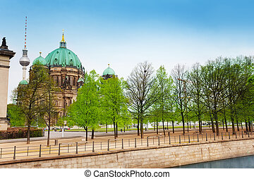 Berlin Cathedral Church and Berliner Fernsehturm