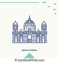 BERLIN CATHEDRAL skyline vector illustration