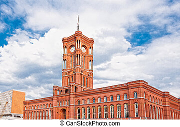 Berlin city hall, (rathaus), Alexanderplatz, Germany -...
